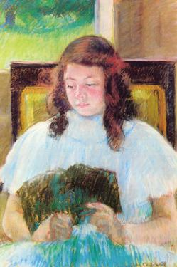 Young Girl Reading by Mary Cassatt