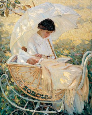 Young Mother in the Garden by Mary Cassatt
