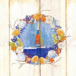 Coastal Sailboat Wreath by Mary Escobedo