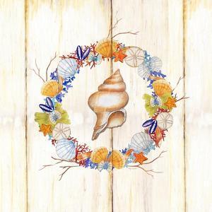 Coastal Wreath and Shell 2 by Mary Escobedo