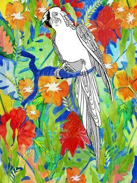 Tropical Paradise Parrot 1 by Mary Escobedo