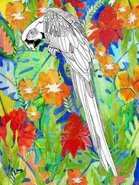 Tropical Paradise Parrot 2 by Mary Escobedo