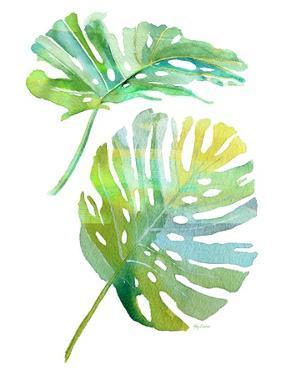 Watercolor Tropical 1 by Mary Escobedo
