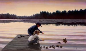 Sharing a Moment by Mary G^ Smith