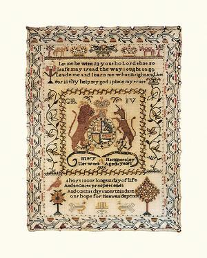 Sampler with Coat of Arms by Mary Hammersley
