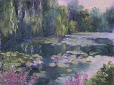 Monet's Garden II by Mary Jean Weber