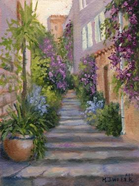 Stairway Of Flowers by Mary Jean Weber