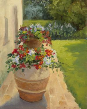 Urns by the Villa by Mary Jean Weber