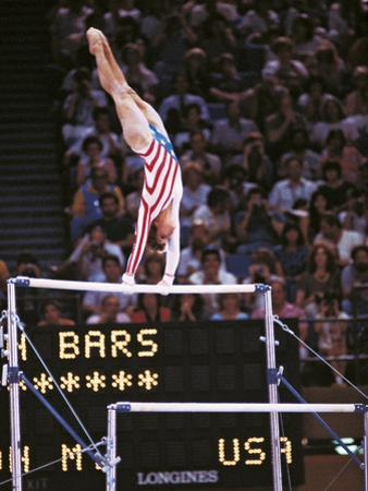 Mary Lou Retton on the Uneven Bars at the Los Angeles Olympic Games