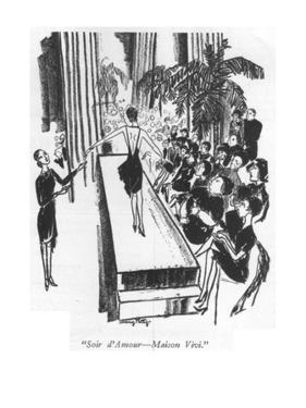 """""""Soir d'Amour—Maison Vivi."""" - New Yorker Cartoon by Mary Petty"""