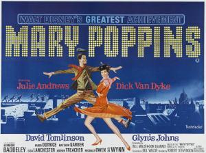 Mary Poppins, UK Movie Poster, 1964