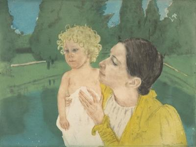 By the Pond, c.1896 by Mary Stevenson Cassatt
