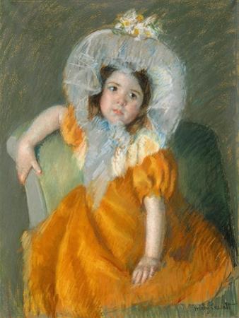 Margot in Orange Dress, 1902 by Mary Stevenson Cassatt