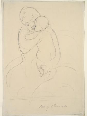 Maternal Caress, 1921  wove paper) by Mary Stevenson Cassatt