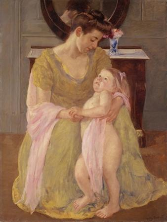 Mother and Child with a Rose Scarf, c.1908 by Mary Stevenson Cassatt