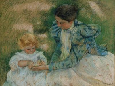 Mother Playing with Child, c.1897 by Mary Stevenson Cassatt
