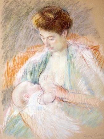 Mother Rose Nursing Her Child, c.1900 by Mary Stevenson Cassatt