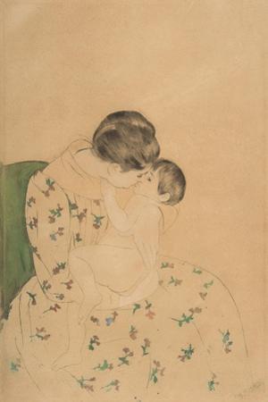 Mother's Kiss, c.1891 by Mary Stevenson Cassatt