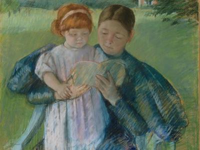 Nurse Reading to a Little Girl, 1895 by Mary Stevenson Cassatt