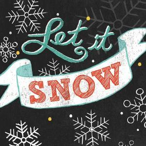 Let it Snow Black Sq by Mary Urban