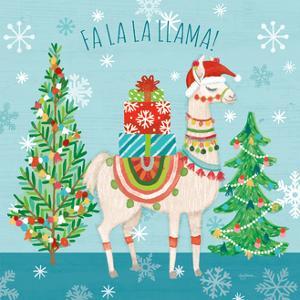 Lovely Llamas Christmas IX by Mary Urban