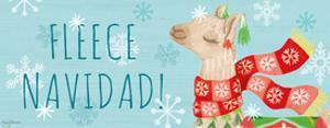 Lovely Llamas Christmas VII by Mary Urban