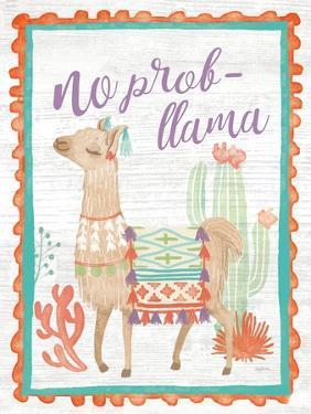 Lovely Llamas IV No Probllama by Mary Urban