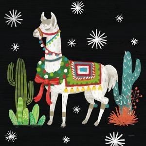 Lovely Llamas V Christmas Black by Mary Urban