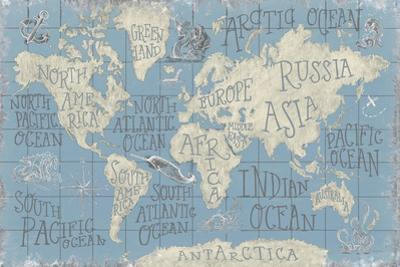 Mythical Map I Blue by Mary Urban