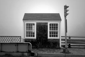 Bridge Tender's House in Fog by Mary Woodman