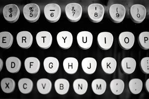 Typewriter Keys by Mary Woodman