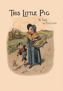 Witch with Groceries and a Pig on a Leash by Mary Wright Jones