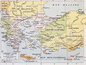 Aegean Region In 13Th Century Old Map by marzolino