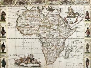 Africa Old Map. Created By Frederick De Wit, Published In Amsterdam, 1660 by marzolino