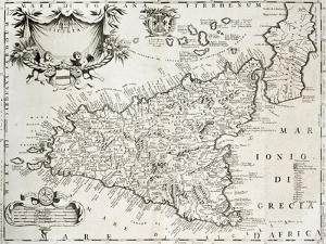 An Old Map Of Sicily, The Original Was Created By V by marzolino