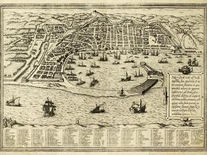 Antique Map Of Messina The Town Of Sicily Separated From Italy By The Strait Of The Same Name by marzolino