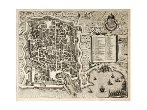 Antique Map Of Palermo, The Main Town In Sicily by marzolino