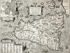 Antique Map Of Sicily With Syracuse Detail by marzolino