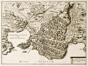Antique Map Of Syracuse, Sicily by marzolino