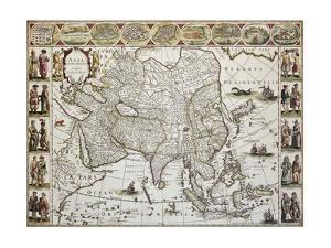 Asia Old Map. Created By Willem Bleau, Published In Amsterdam, Ca. 1650 by marzolino