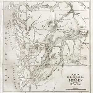Bergen Peninsula Old Map by marzolino