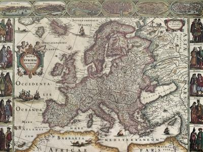 Europa Old Map. Created By Henricus Hondius, Published In Amsterdam, 1623 by marzolino