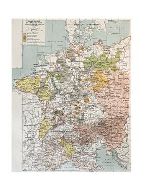 Germany And Northern Italy During Thirty Years War, Old Map by marzolino