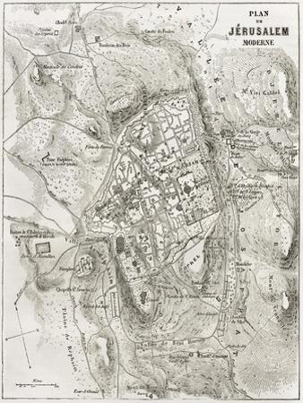Jerusalem Old Map by marzolino