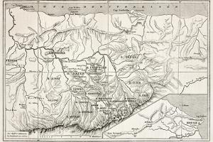 Kabylie Old Map, Algeria. Created By Erhard, Published On Le Tour Du Monde, Paris, 1867 by marzolino
