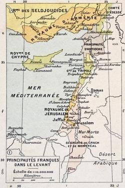 Medieval Eastern Mediterranean Old Map by marzolino
