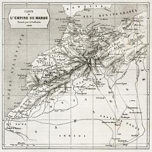 Morocco Old Map. Created By Erhard And Bonaparte, Published On Le Tour Du Monde, Paris, 1860 by marzolino