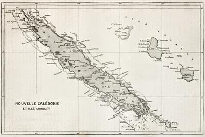 New Caledonia And Loyalty Island Old Map by marzolino
