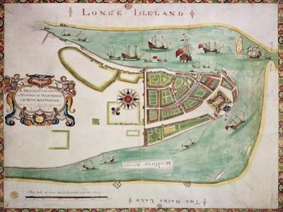 New York Old Map. By Unknown Author, Published 1664 by marzolino