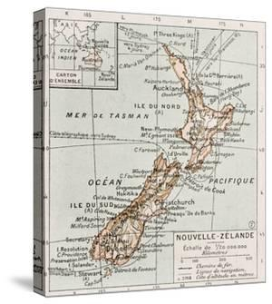New Zealand Old Map by marzolino
